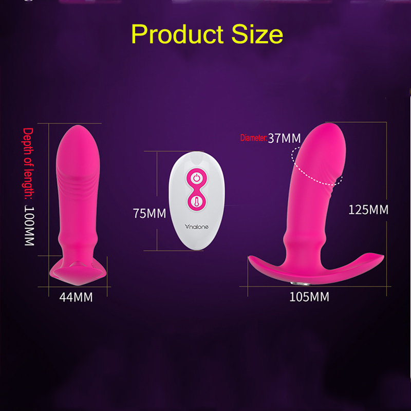 Nalone Dildo Vibrator Charged Wearable Sex Toys for Women Couples Intelligent Heating Wireless Remote Control Adult Sex Products in Vibrators from Beauty Health