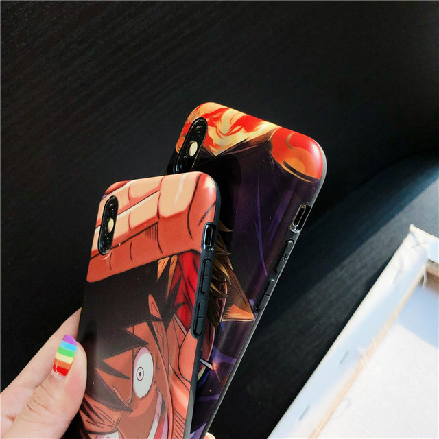 One Piece Luffy Zoro Soft Case Cover for iPhone Models