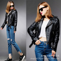 Women 's new short jacket women' s leather short paragraph pu leather jacket motorcycle leather YF153