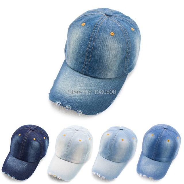 LGF161 factory wholesale unisex plain adjustable WASHED COTTON DENIM  baseball cap snapback hip-hop hat 00efa4c7b04a
