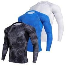 Rashguard camisa de compresión Running hombre serpiente escalas 3D Deporte  Fitness Gym Bodybuilding Sportswear camiseta Jersey 950d82e796f8b