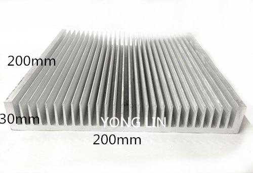 1pcs Aluminum heatsink200 30 200mm Industrial chassis radiator LED heat sinks Electric box heat sink