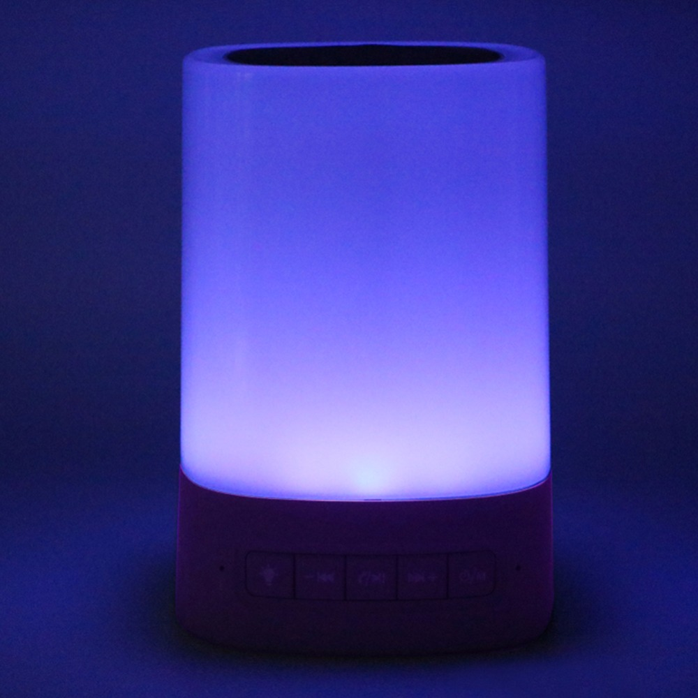 Bluetooth LED Touch Light Wireless Speaker Loudspeaker Soundbox with Multi-Color Intelligent Color-Changing Mobile Phones PC