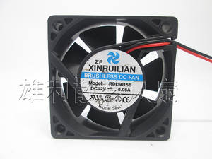 Free Delivery.RDL6015B 12V 0.06A 6CM 6015 2-wire silent cooling fan