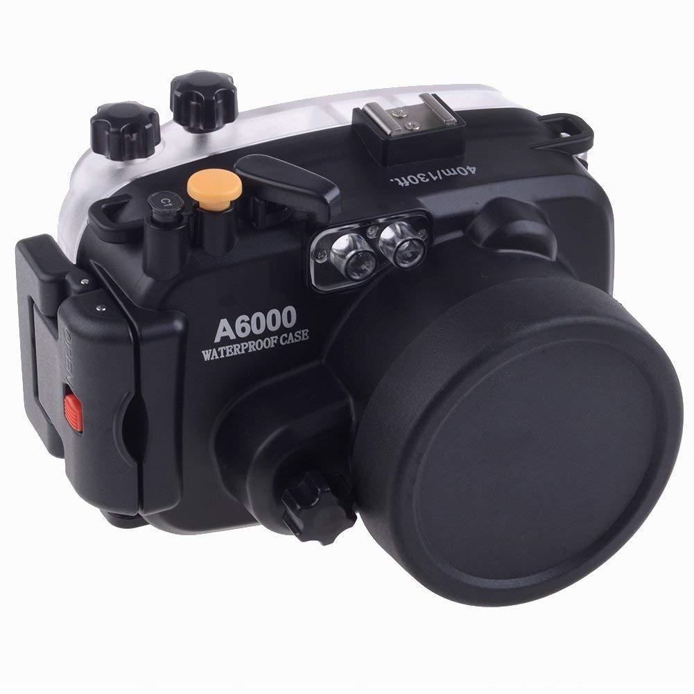 Meikon 40M 130ft Scuba Dving Housing Waterproof Underwater Camera Case Swimming For Sony A6000 16 50mm