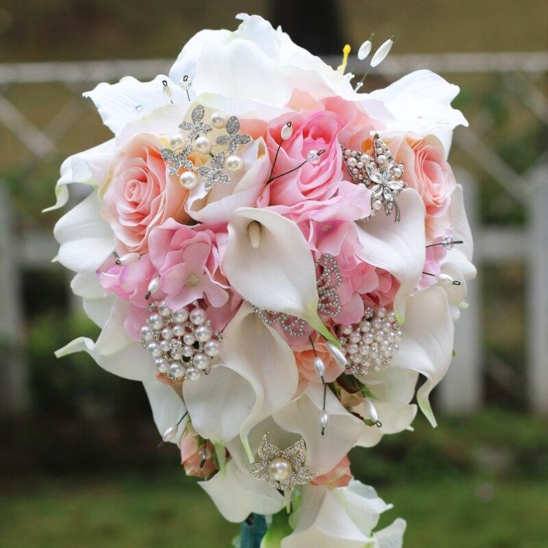 aliexpress: acheter iffo simulation roses, calla lys, diamant