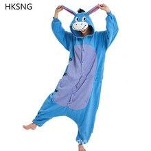 HKSNG On Sale Winter Totoro  Donkey Onesies Animal Pajamas Hooded Cosplay Costume Homewear Kigurumi