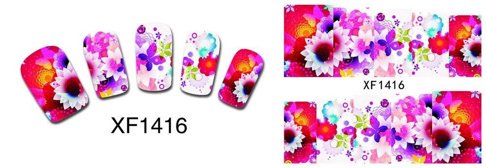 Дизайн ногтей цветок переноса воды Стикеры ногтей Обёрточная бумага Фольга лак наклейка Временные татуировки Watermark 1000pks/много
