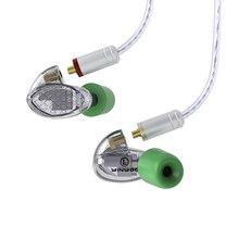 AK YINYOO T500 5BA сбалансированные арматурные наушники для ушей, HIFI наушники для мониторинга, съемный MMCX кабель, DJ, спортивные наушники, головной убор