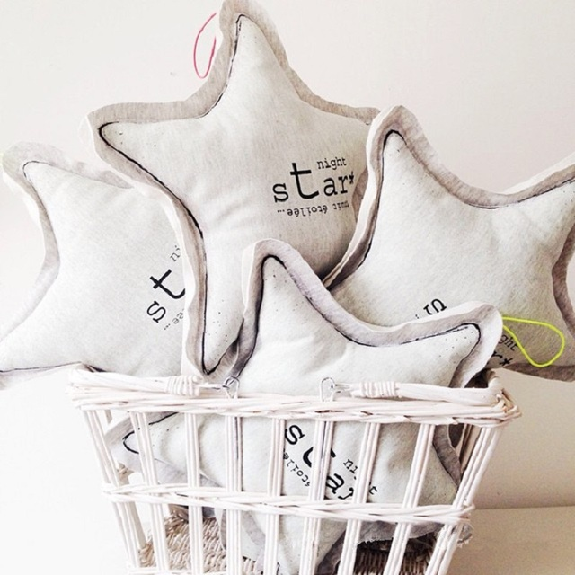 Stuffed Star Pillow Nordic Style