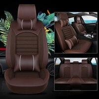 kalaisike Leather plus Flax Universal Car Seat covers for Besturn all models B30 B90 B50 B70 X40 X80 auto accessories styling