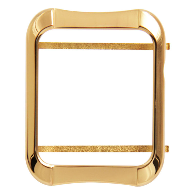Gold plated case cover 24K gold case for Apple watch Aluminum cover for apple watch