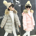 Baby girl thick winter jacket and coat the south Korean fashion children's lovely artificial fur collar long hooded cloak a warm