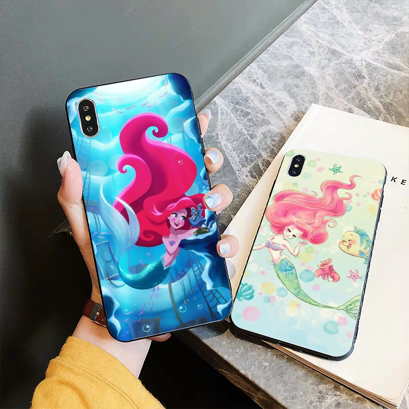 Lavaza Princess Ariel Little Mermaid Silicone Case for iPhone 5 5S 6 6S Plus 7 8 11 Pro X XS Max XR in Half wrapped Cases from Cellphones Telecommunications