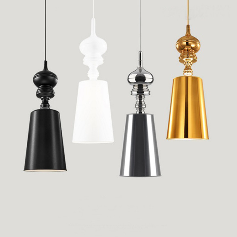 Modern Pendant Lamps Dining Room Pendant Lights Black Spain Hanging Lamp For Kitchen Living Room Home Lighting tiffany mediterranean dining room pendant lamps european style simple triple staircase modern living room lamp pendant lights