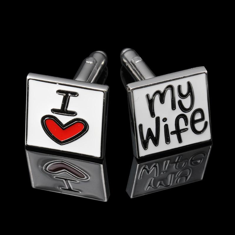 518b047bf6e2 5 Paires lot j aime ma femme boutons de Manchette Argent Batman Design  Matériau Cuivre boutons de manchette De Mariage abotoaduras Manchette lien
