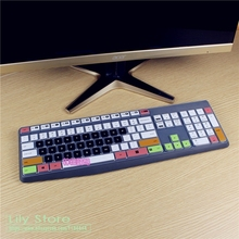 For Logitech MK235 K235 K375S Silicone mechanical Wireless Bluetooth Desktop keyboard Cover Protector Dust Cover Film