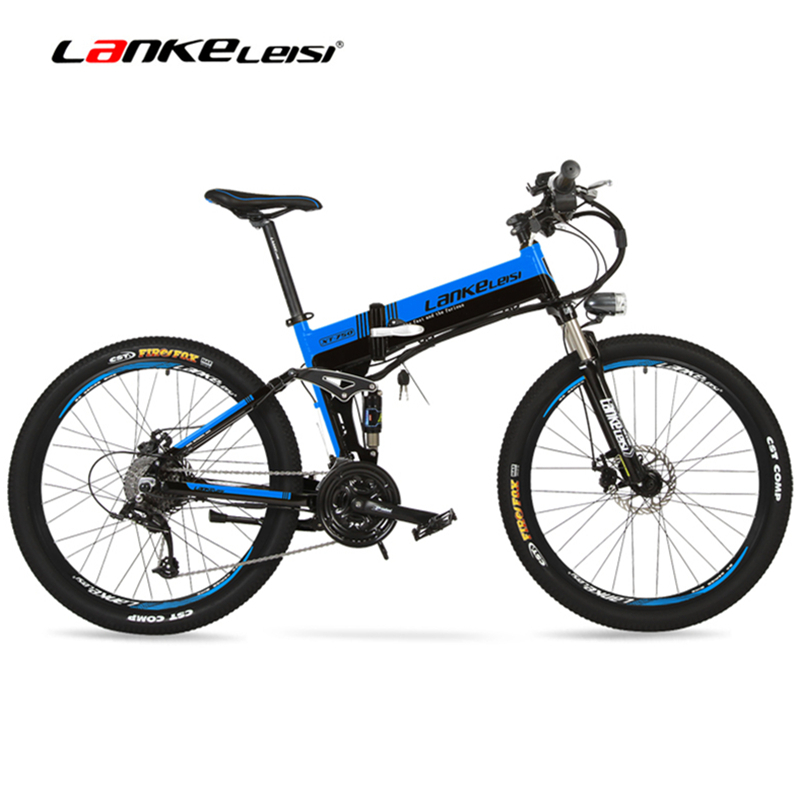 XT750D 27 Speed 500W Super Power High Quality 26″ Foldable Electric Bicycle, 36V/48V Hidden Lithium Battery Mountain Bike MTB
