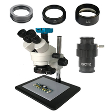 3.5X 7X 45X 90X Continous zoom Simul Focal Trinocular stereo industrial microscope 30MP HDMI Camera with 0.5X 2.0X glass lens 16mp hdmi 3 5x 7x 45x 90x continuous zoom simul focal trinocular stereo microscope usb phone video camera 0 5x 2 0x barlow lens