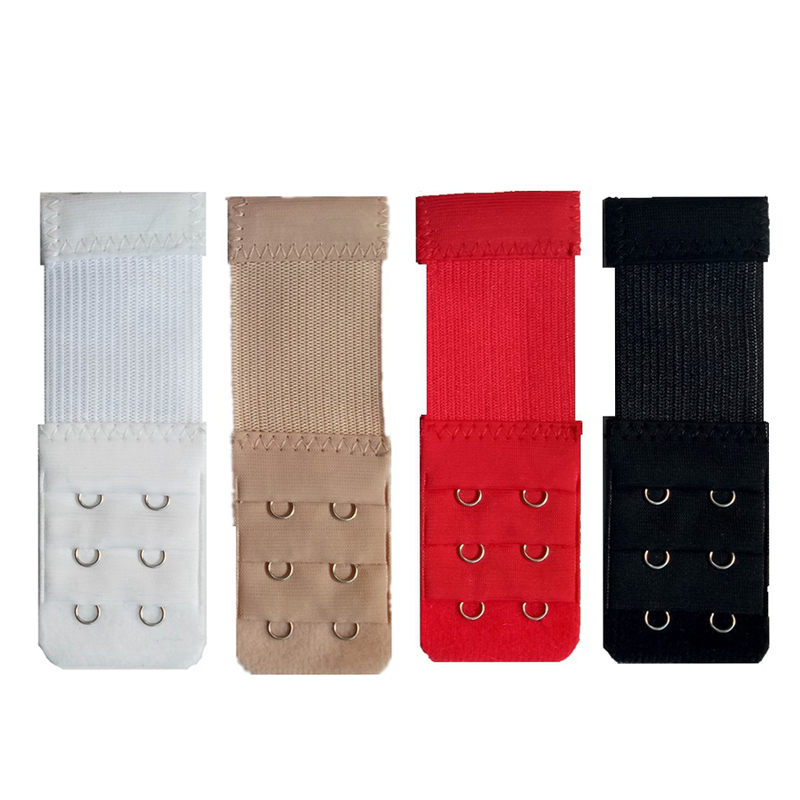 b5b91b5841 4pcs Sexy 3 Rows 2 Hooks Bra Extender for Women s Nylon Clasp Extension  Elastic On Strap Soft Bra Band Extenders Bra Accessories-in intimates   accessories ...