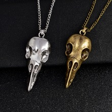 Men's Nordic Viking Raven Skull Pendant Necklace