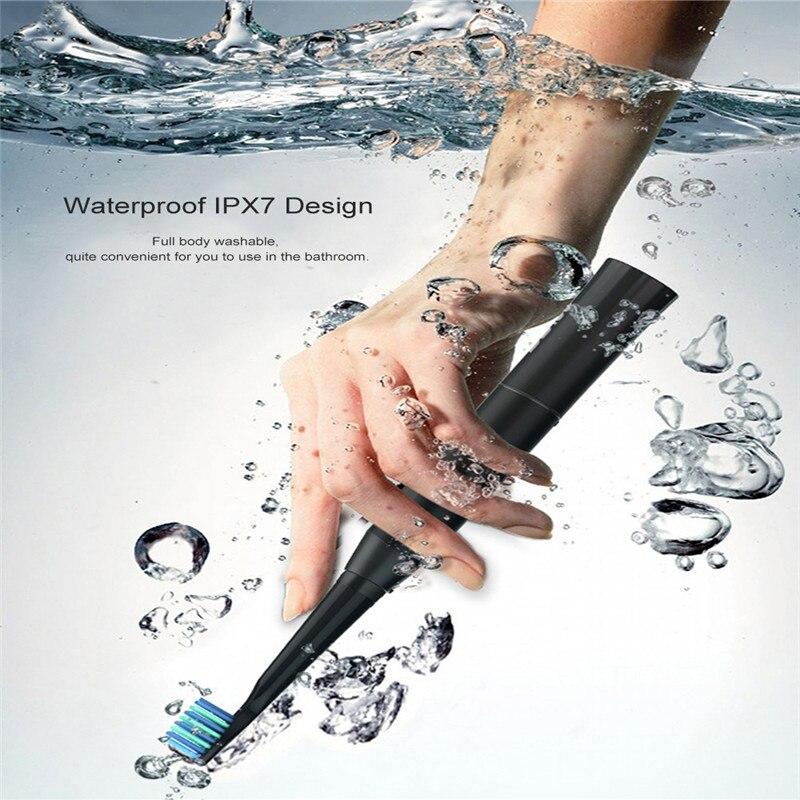 Сиго E2 Перезаряжаемые Водонепроницаемый sonic Электрический Зубная щётка с 2 насадки 40000 раз Vibaration ультра sonic зубная щетка новый
