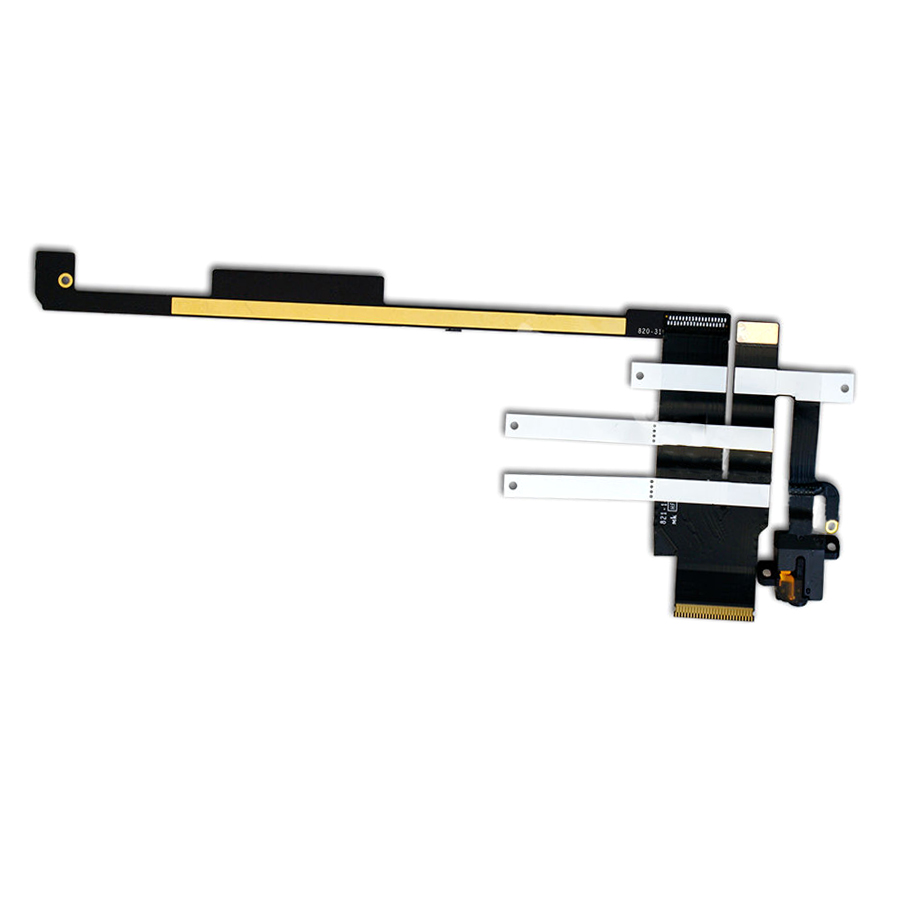 Headphone Jack Audio Flex Cable 2012 PCB Board For iPad 2 A1395 2560 Wifi Only replacement headphone audio jack flex cable for iphone 4 cdma