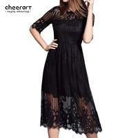 Women Long White Lace Autumn Dress Cut Out Black Bodycon Party Evening Crochet Ladies Midi Dress