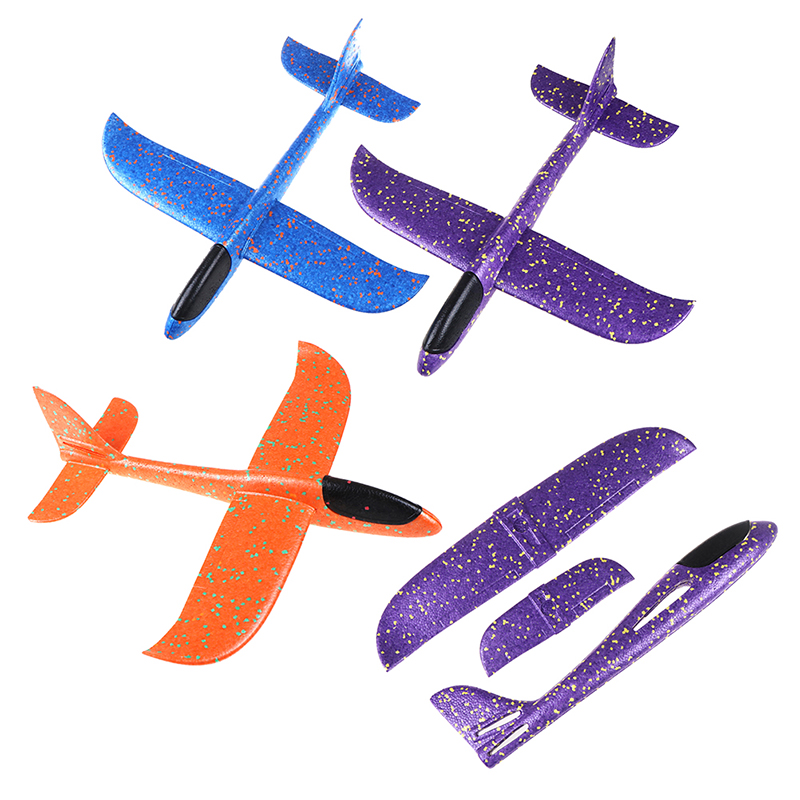 DIY 48cm Hand Throw Flying Glider Planes Toys For Children Foam Aeroplane Model Party Bag Fillers Flying Glider Plane Toys Game