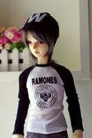 Wamami 766 White Words T Shirt Outfit For 1 3 SD DZ DOD BJD Dollfie