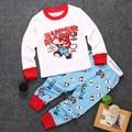 2 unids Baby Boy Girls Clothes Set Super Mario Traje de Algodón T camisa y pantalones de Pijama Niños Ropa Del Muchacho Fijaron 1-7Y
