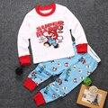 2pcs Baby Boy Girls Clothes Set Super Mario Costume Cotton T shirt and pants Pajama Set Children Boy Clothes Set 1-7Y