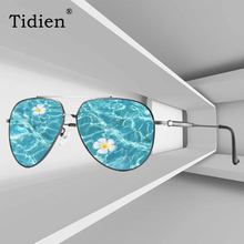 Tidien Fashion Pilot Polarized Sunglasses Men Flexible Driving Fishing Travel Metal Sun Glasses P-0967