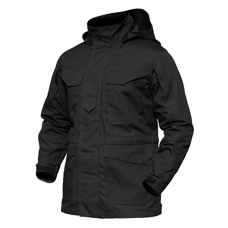 TACVASEN Army Clothes Men Military Tactical Jacket Waterproof Windbreaker Men Winter Thermal Hooded Jacket Coat TD-YCXL-037