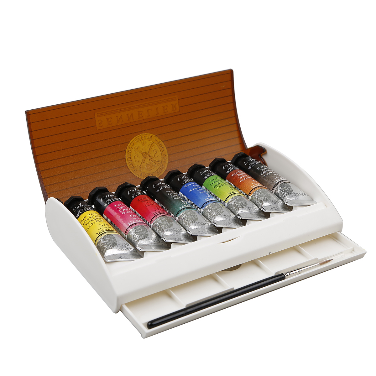 SENNELIER Top Artist 8 Colors 10ML Honey Watercolor Paints Suits Tinting Iron Box Advanced Watercolor PigmentsSENNELIER Top Artist 8 Colors 10ML Honey Watercolor Paints Suits Tinting Iron Box Advanced Watercolor Pigments
