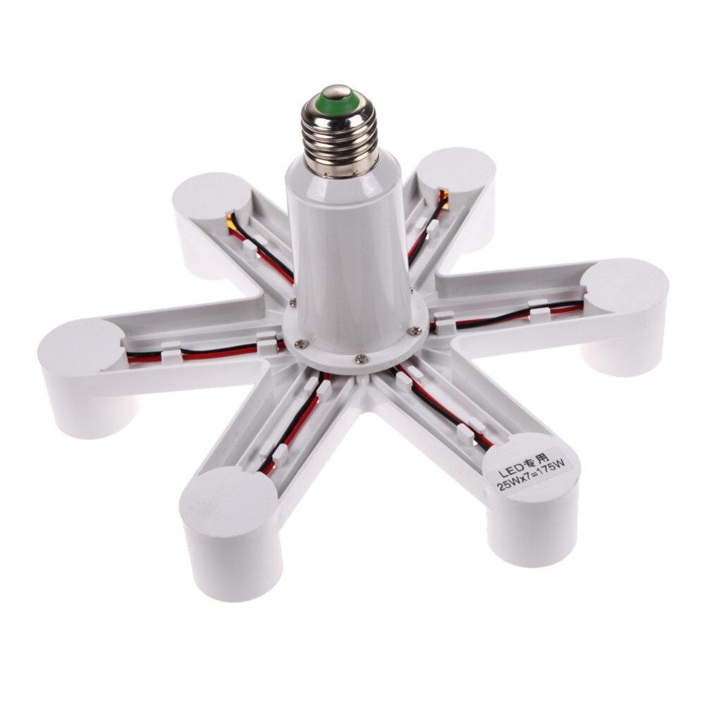1-7 e27 Lampenfassung E27 Fassung Basis Lampe Lampenfassung Sockellampe Splitter Halter Converter