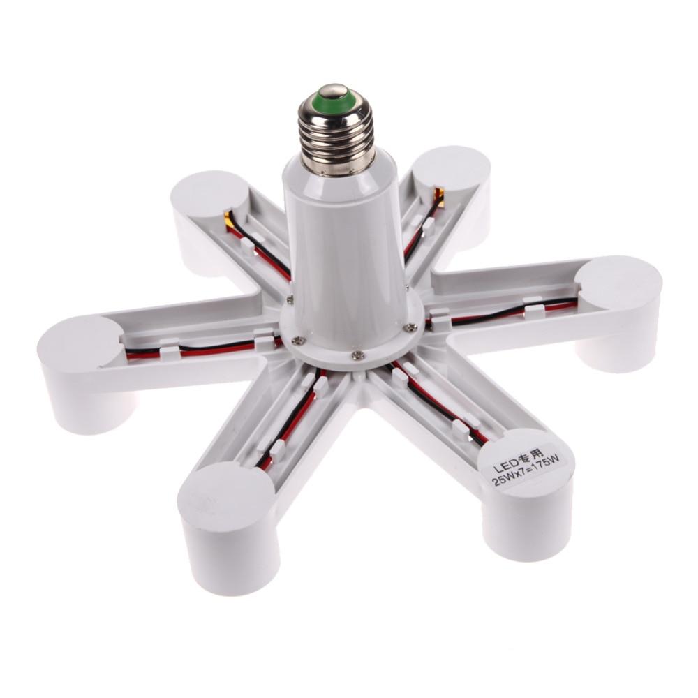 1 To 7 e27 Lamp Holder E27 Socket Base LED Lamp Light Socket Base Bulb Splitter