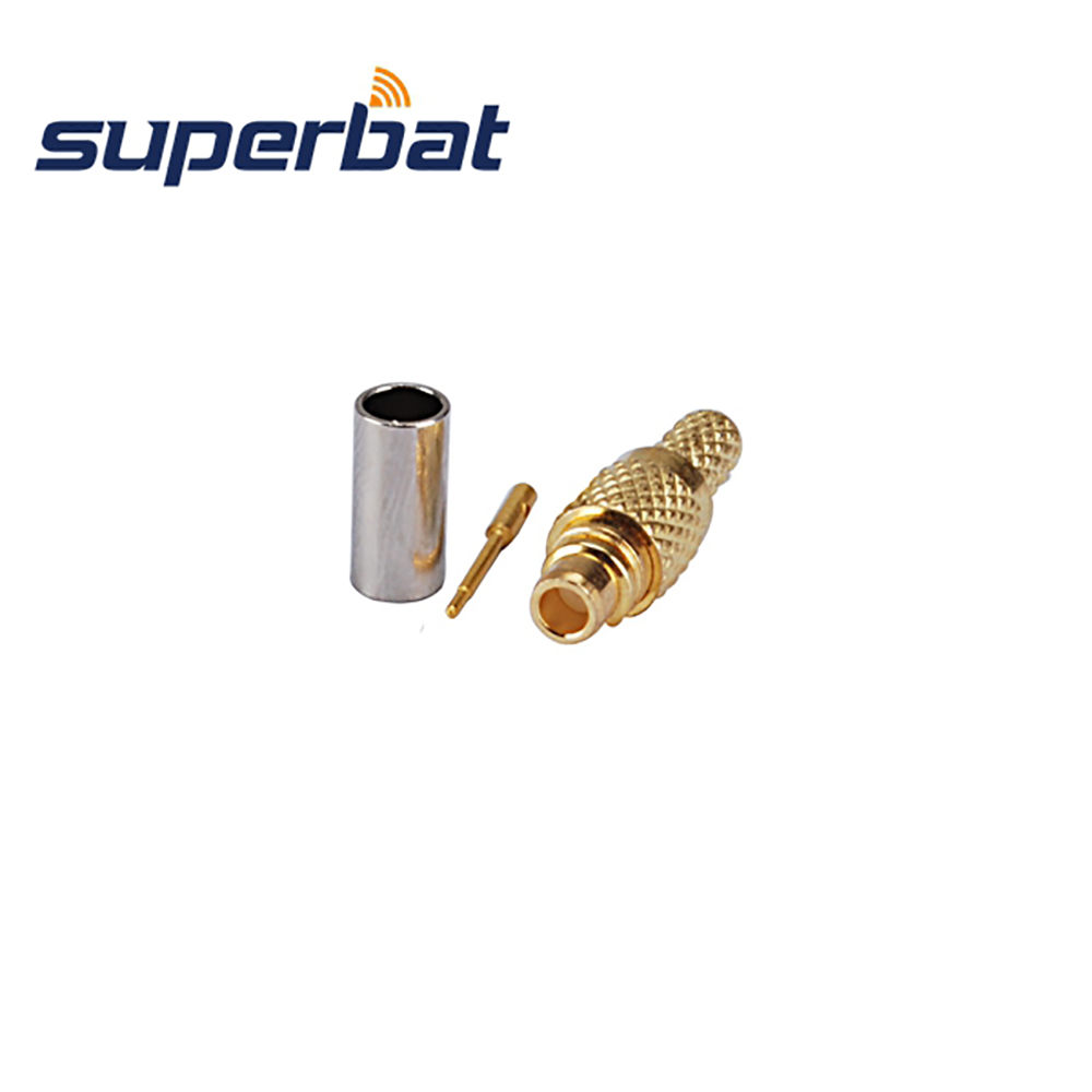 Superbat 10Pcs  RF Connector MMCX Crimp Plug Male For Coaxial Cable RG174,RG316,LMR100 Free Shipping