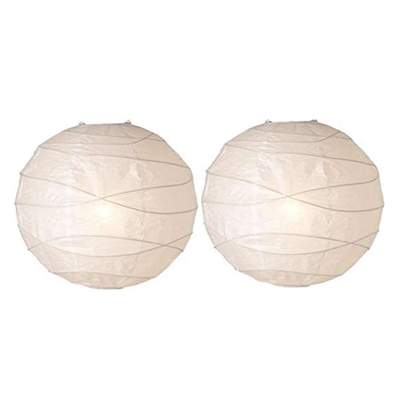 2 pieces white hanging lampshade paper lamp