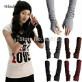 New Fashion Unisex Autumn/Winter Hand Arm Crochet Knit Long Stretchy Fingerless Gloves Warm