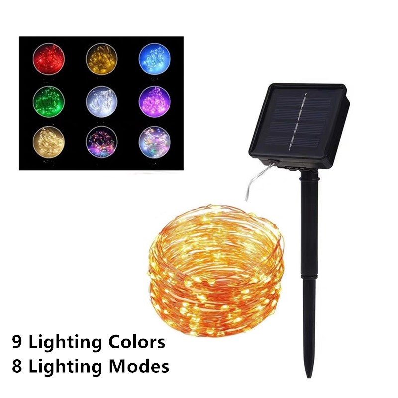 10 20 30 40m LED Outdoor Solar Lamp LED String Lights Fairy Garland Christmas Party Decoration Solar Garden Waterproof Lights