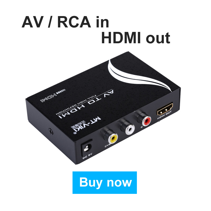 AV to HDMI Converter RCA Component Analog Audio Video to HDMI Adapter FHD 720P 1080P Optional Up Scaller AV2HDMI MT-Viki AH312