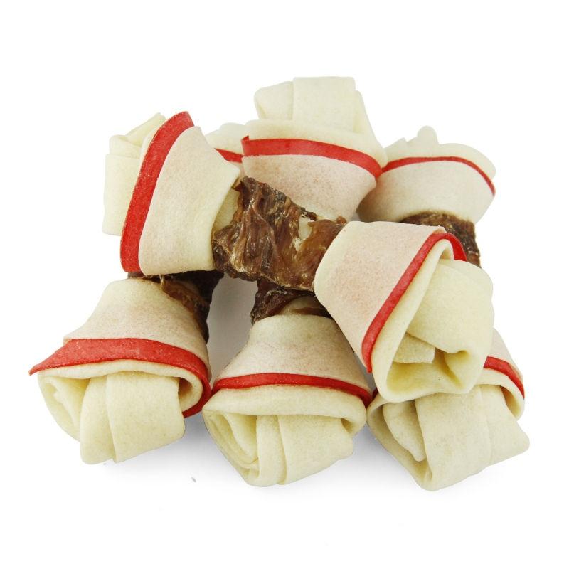 Pet Cuisine High Quality Dog Treats Food Training Snacks Puppy Chews Duck Wrap Knotted Bones 4.5 ...