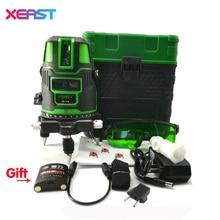 XEAST XE-11A NOWY 5 linii 6 punkt Zielony laserowy miernik poziomu 360 stopni Samopoziomujący laser level z zewnątrz tryb tilt tryb