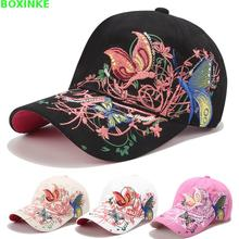 2019 Pokemon Go Gorra Female Flowers Butterfly Embroidered Baseball Cap Women Hats Fashion Casual Lady Adjustable Snapback Hat