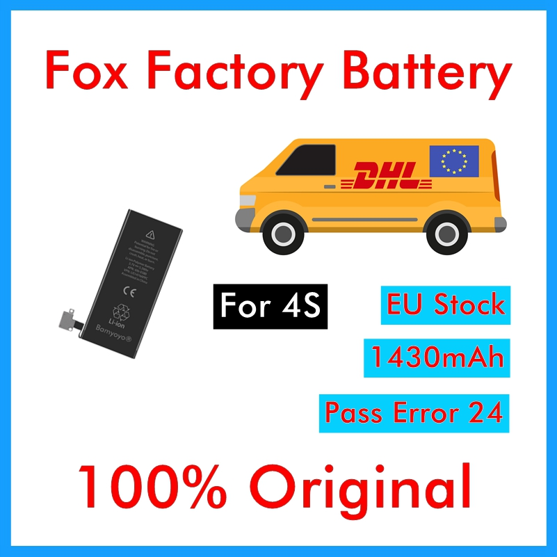 Zero-Cycle-Battery iPhone 4s Replacement DHL Original for 1430mah UPS Quality 100pcs/Lot