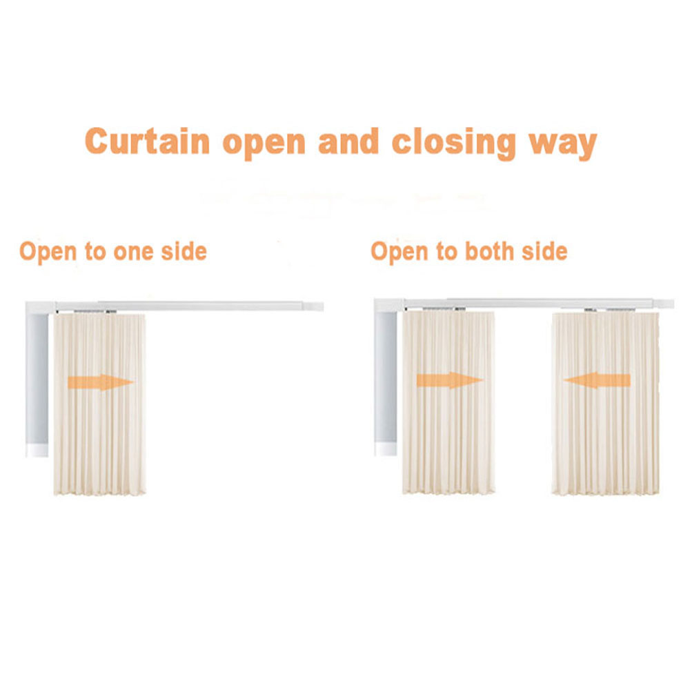 Image 3 - Customized High quality Super Quiet Electric Curtain Track for Xiaomi and DOOYA Curtain motor, Super Silent Curtain rail-in Automatic Curtain Control System from Home Improvement