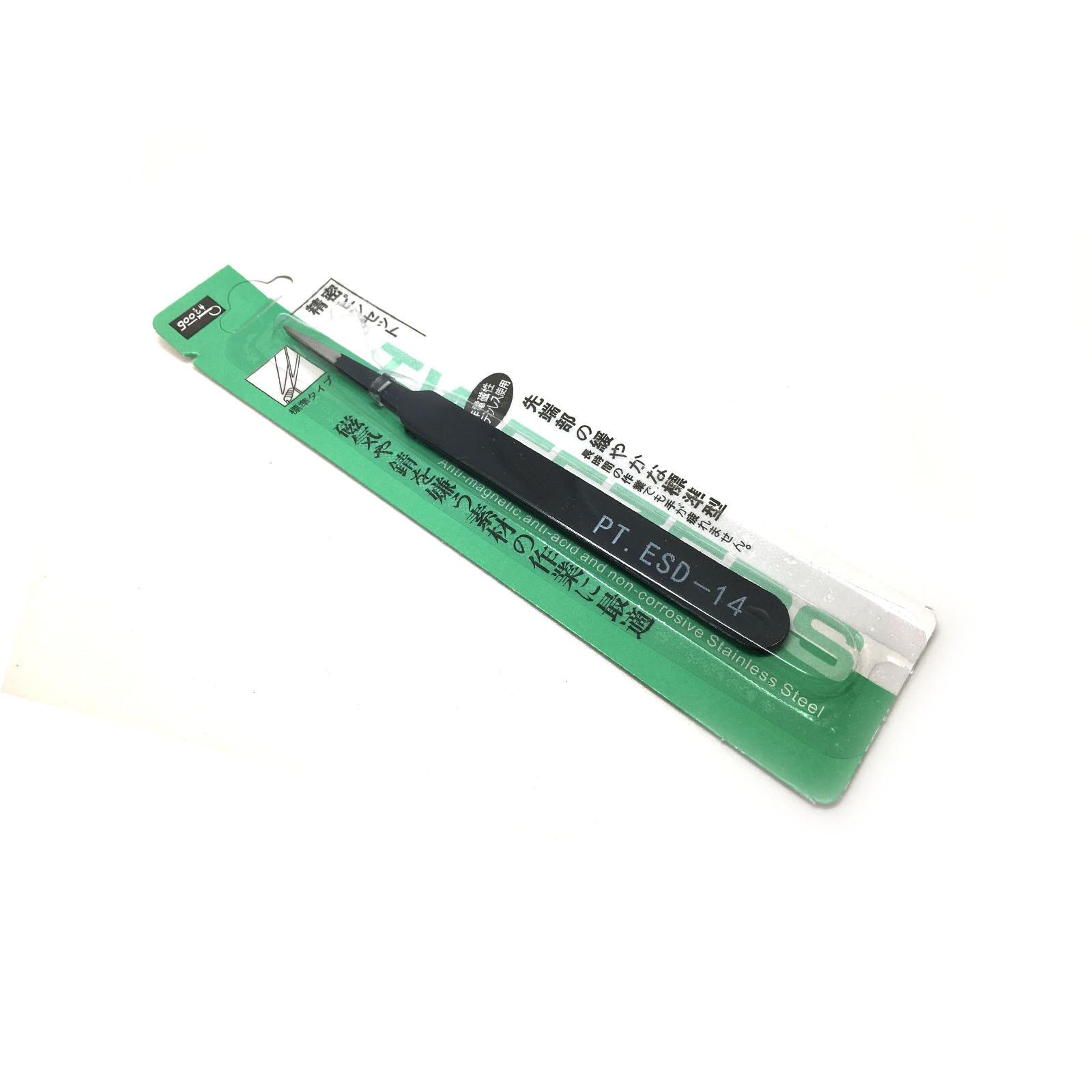 Model Special Tweezers Anti-static Tweezers Diy Manual Clamp 1.0mm Black Tweezers NZ-001