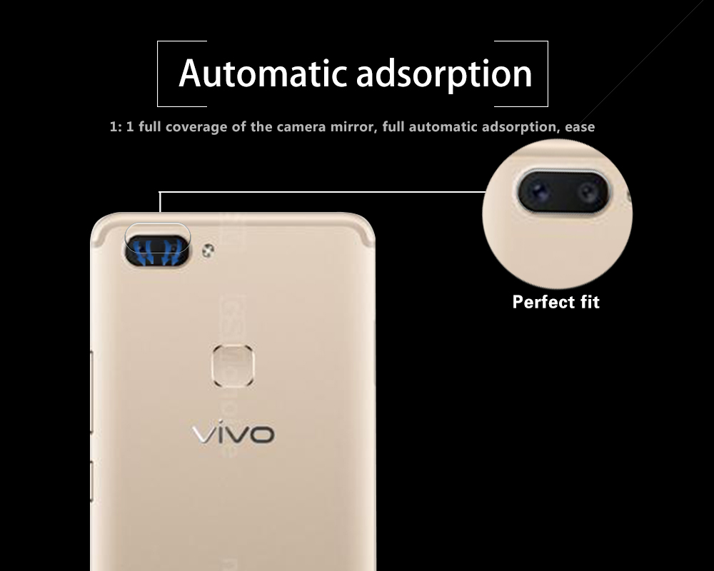 High Quality Camera Lens Tempered Glass For VIVO X20 X20A Fingerprint Back Transparent Lens Protector With Cleaning Tools