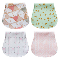 4PCS Lot Nursing Burp Cotton Bandana Scarf Infant Saliva Towel Baby Bibs For Boys Girls Bandana